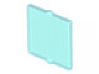 Glass for Window 1 x 2 x 2 Flat Front, tr hellblau neu