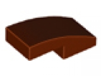 Reddish Brown Slope, Curved 2 x 1 No Studs, neu