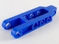 Lego Technic Beam Split 2 x 6 Towball Coupling blau