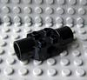 Technic Brick 2 x 2 with Holes and Two Rotation Joint Sockets schwarz