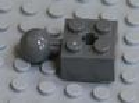 Brick 2 x 2 with Ball Joint and Axlehole neues dunkelgrau