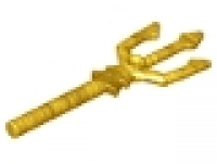 Minifigure, Weapon Trident, 92289 pearl gold