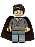 Harry Potter, Gryffindor Stripe Torso, Dark Bluish Gray Legs, Plain Black Cape