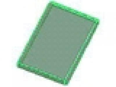 Tr Green Glass for Window 4 x 4 x 3 Roof
