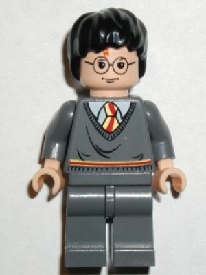Harry Potter, Gryffindor Stripe Torso, Dark Bluish Gray Legs