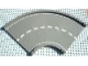 Baseplate, Road 24 x 24 Ramp, Curved (16w surface) with White Center Stripe Pattern, 30402px1